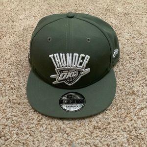 Custom Oklahoma City Thunder SnapBack Hat Olive
